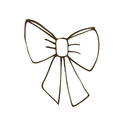 hand drawn bow vector image