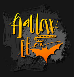 hand drawn halloween poster with vector image