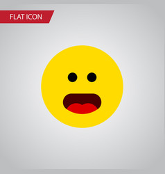 Isolated confused flat icon wonder element vector
