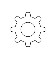 Isolated gear symbol vector