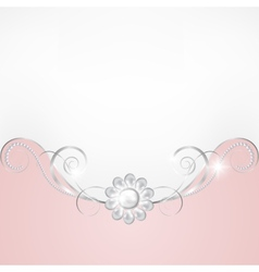 Jewelry border vector