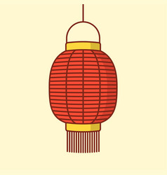 lantern icon chinese or japanese red lantern vector image