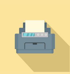 Laser printer icon flat style vector