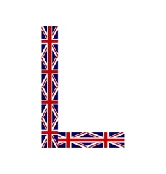 Letter L made from United Kingdom flags vector image