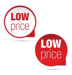 Low price label sign vector