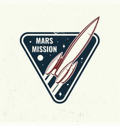 Mars mission logo badge shirt t design print vector