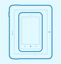 Mobile Blueprint vector image