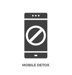 Mobile detox glyph icon vector