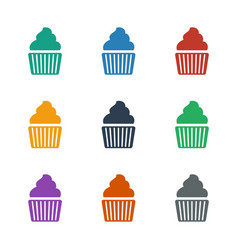 Muffin icon white background vector