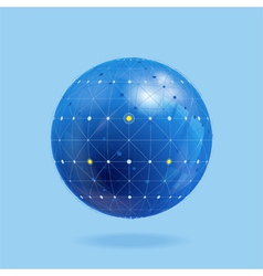 Network globe vector