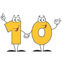 Number Ten Cartoon Character vector
