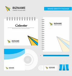 paper plane logo calendar template cd cover diary vector image