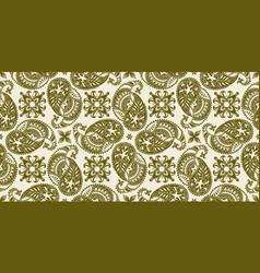 Rectangular seamless boho print design vector
