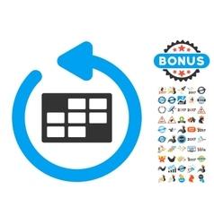 Refresh Calendar Icon With 2017 Year Bonus Symbols vector