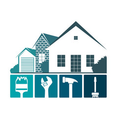 repair of home design vector image