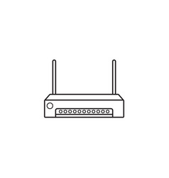 router line icon outline logo vector image