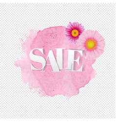 sale poster gerber transparent background vector image