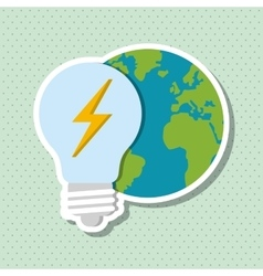 Save Energy icon design vector