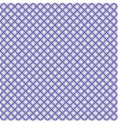 Seamless abstract floral pattern indigo color vector