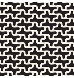 Seamless Black And White Rounded Lines vector image