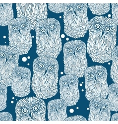 Seamless pattern with polar owl vector image