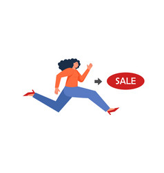 shopping concept flat style design vector image