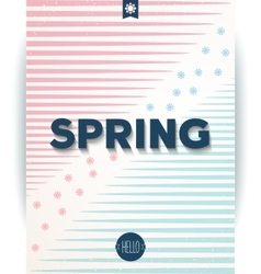 Spring retro hipster poster vector