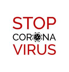 Stop coronavirus banner minimal poster vector