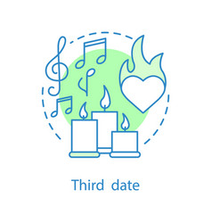 third date concept icon vector image