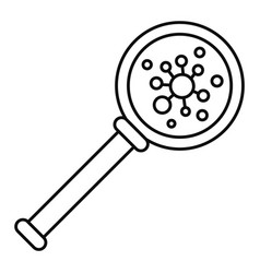 virus magnify glass icon outline style vector image