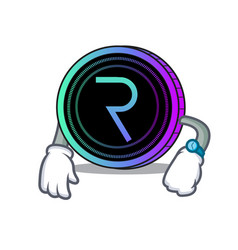 Waiting request network coin mascot cartoon vector