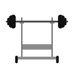 Weight barbell equipment fitness gym vector