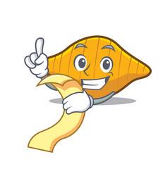 With menu conchiglie pasta mascot cartoon vector
