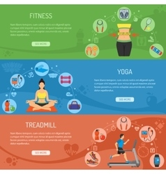 Yoga and Fitness Horizontal Banners vector