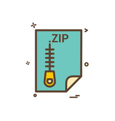 Zip application download file files format icon vector