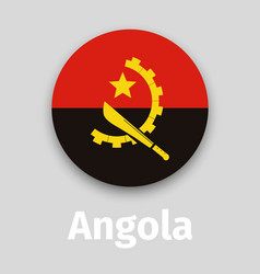 angola flag round icon vector image