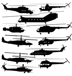 Contours of modern helicopters vector image