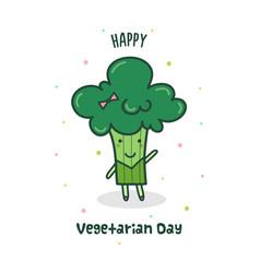 happy vegetarian day vector image vector image