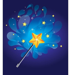magic wand with bright background vector image