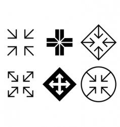 arrows and crosses set vector image vector image