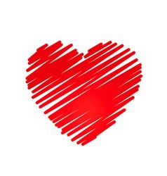 hand drawn heart design element vector image vector image