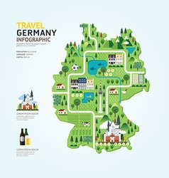 Infographic travel and landmark germany map vector image vector image