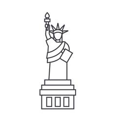 liberty statue line icon sig vector image