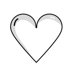 Line beauty heart a romance decoration design vector
