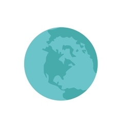 planet earth blue world icon vector image