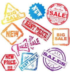 sale stamp set vector image vector image