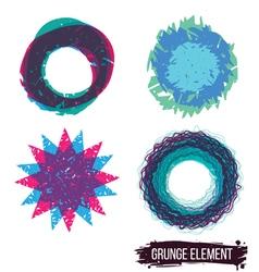 Set color grunge design element vector image