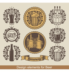 beer banners vector image