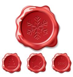 christmas seal wax vector image