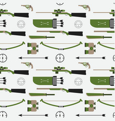 hunting pattern flat style equipment vector image vector image